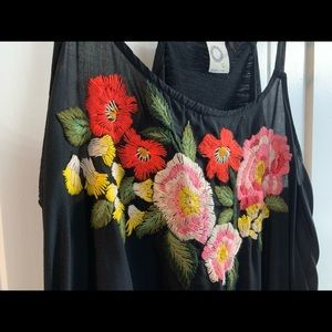 Anthropologie Akemi and Kim Embroidered Blouse